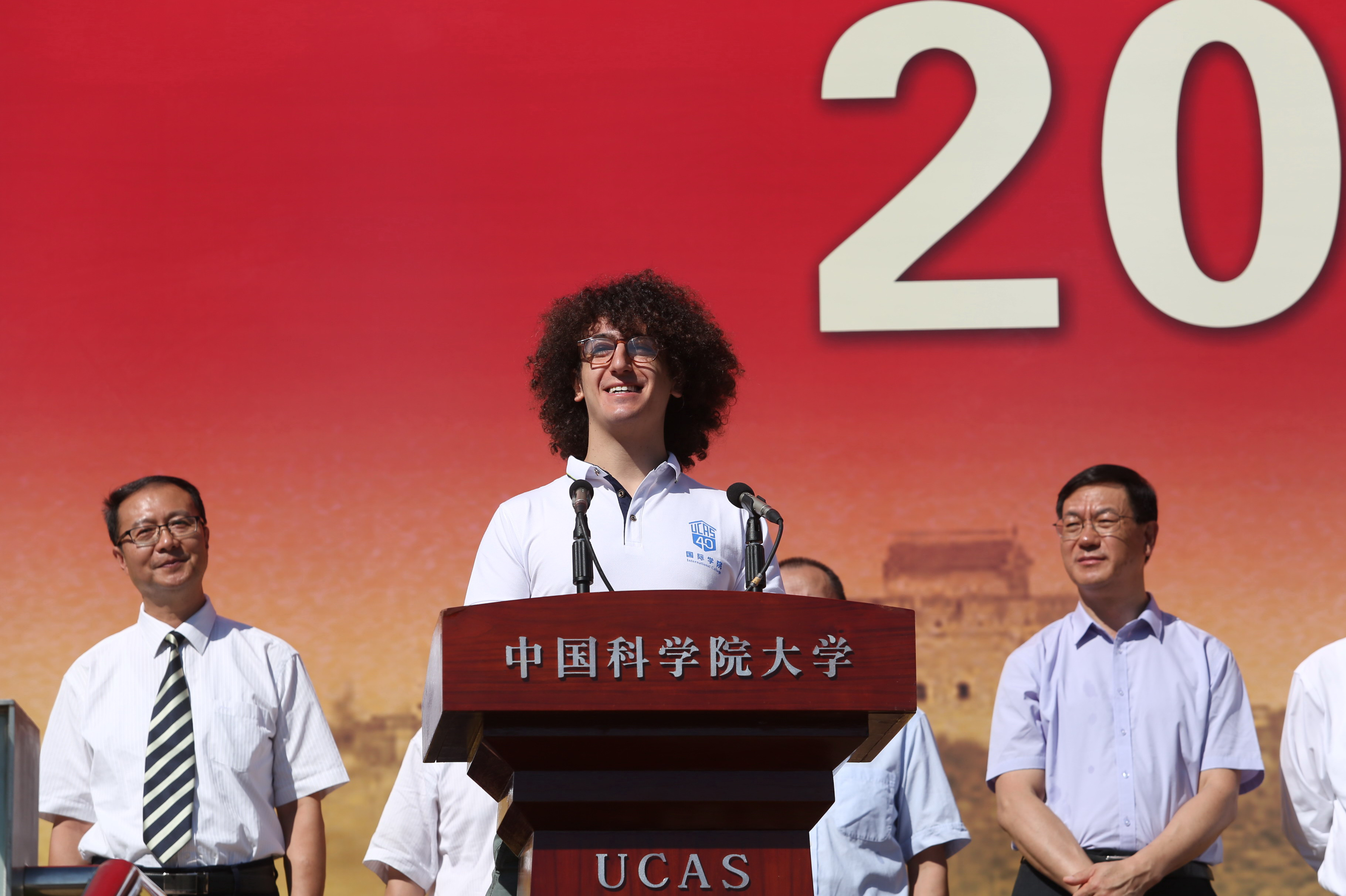 """留学生代表,来自意大利的nicola di trani在代表留学生发言时说,""""中国"""