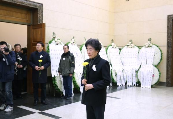 第十一届全国政协副主席王志珍院士致哀